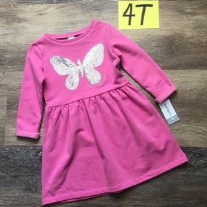 🛍NWT Carter's Girls 4T Butterfly Fleece Dress